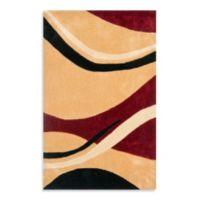 Safavieh Wavy Lines 2'6 x 4' Accent Rug in Rust