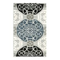 Safavieh Wyndham Irina 2-Foot 6-Inch x 4-Foot Hand-Tufted Wool Accent Rug in Grey/Black