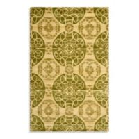 Safavieh Wyndham Irina 2-Foot x 6-Foot Hand-Tufted Wool Accent Rug in Honey/Green