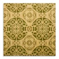 Safavieh Wyndham Irina 7-Foot Square Hand-Tufted Wool Rug in Honey/Green