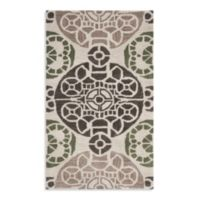 Safavieh Wyndham Irina 2-Foot 6-Inch x 4-Foot Hand-Tufted Wool Accent Rug in Ivory/Brown