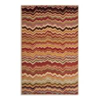 Safavieh Wyndham Amber Flame 4-Foot x 6-Foot Hand-Tufted Wool Accent Rug in Red/Multi