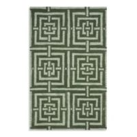 Safavieh Wyndham Euclid 4-Foot x 6-Foot Hand-Tufted Wool Accent Rug in Sage Green