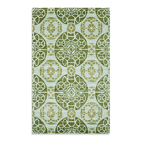 image of Safavieh Wyndham Irina Hand-Tufted Wool Rug in Turquoise/Green