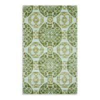 Safavieh Wyndham Irina 4-Foot x 6-Foot Hand-Tufted Wool Accent Rug in Turquoise/Green