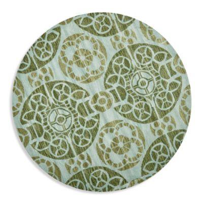 Safavieh Wyndham Irina 7 Foot Round Hand Tufted Wool Rug In Turquoise Green