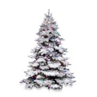 Vickerman 4.5-Foot Flocked Alaskan Pine Pre-Lit Christmas Tree with Clear Lights