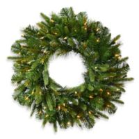 Vickerman 30-Inch Cashmere Pine Pre-Lit Christmas Wreath with White LED Lights