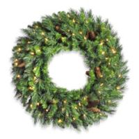 Vickerman 24-Inch Cheyenne Pine Pre-Lit Wreath with Clear Lights