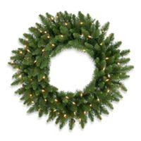 Vickerman 30-Inch Camdon Fir Dura-Lit Pre-Lit Wreath with Clear Lights