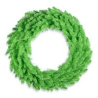 Vickerman 24-Inch Lime Pre-Lit Wreath with Lime Mini Lights