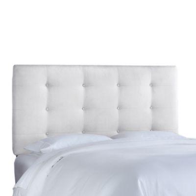 Skyline Furniture Twin On Tufted Headboard In Premier White