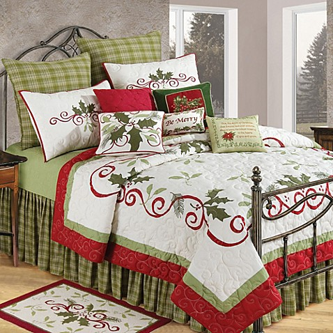 Holiday Garland Christmas Pillow Sham Bed Bath Amp Beyond