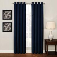 Ashton 95-Inch Grommet Window Curtain Panel in Navy