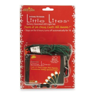 brite star battery operated 20 count led micro mini lights in white - Red And White Outdoor Christmas Lights