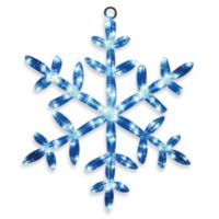 Brite Star 24-Inch LED Snowflake Tube Light in Blue