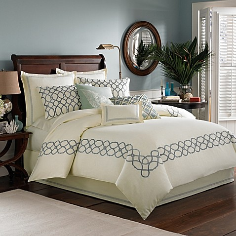 Tommy Bahama® Trellis Duvet Cover in Sea Mist