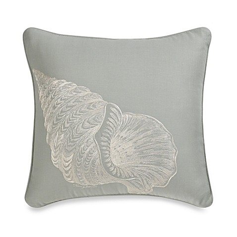 Tommy Bahama® Trellis Seashell Square Toss Pillow in Sea Mist