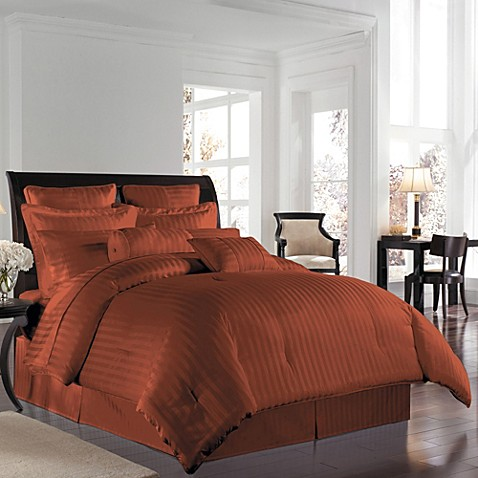 Wamsutta 174 500 Damask Comforter Set In Rust Bed Bath Amp Beyond
