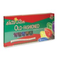 Brite Star 25-Count Old Fashioned Transparent Lights in Multicolor