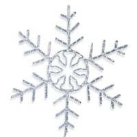 Vickerman 48-Inch LED Forked Snowflake in White