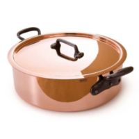 Mauviel M'150c Copper & Stainless Steel 5.8-Quart Covered Rondeau