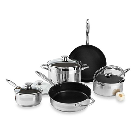 Buy Wolfgang Puck Stainless Steel Nonstick 9 Piece Cookware Set From Bed Bath Beyond