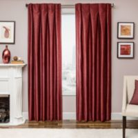 Designers' Select Maximus Inverted Pleat 63-Inch Window Curtain Panel in Red