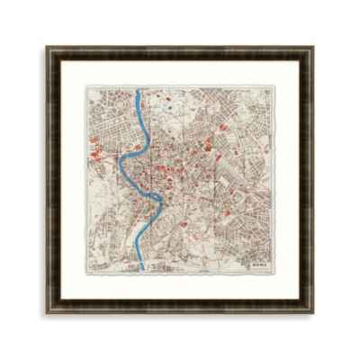 City Plan of Rome Framed Art