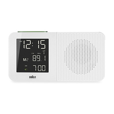 buy braun digital alarm clock radio in white from bed. Black Bedroom Furniture Sets. Home Design Ideas
