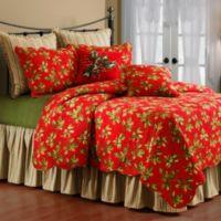 Mistletoe & Holly Standard Pillow Sham