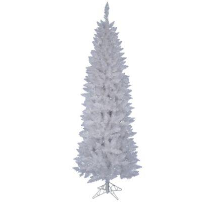 vickerman 75 foot sparkle white spruce pencil tree - White Slim Christmas Tree