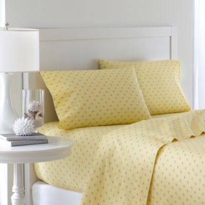 southern tide skipjack 200 thread count full sheet set in moonlight yellow