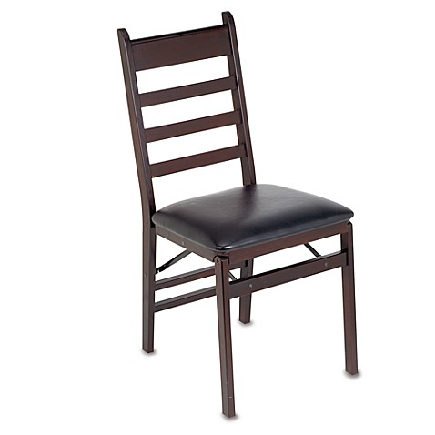 Cosco 174 Wood Folding Chair With Padded Seat Bed Bath Amp Beyond