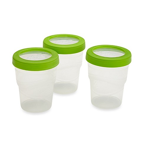 Ball 3 pack 8 oz plastic freezer jars bed bath beyond for Bathroom containers with lids