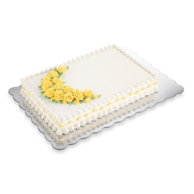 Cake Decorating Kit Bed Bath Beyond : Wilton  13-Inchx19-Inch Cake Platters (Set of 4) - Bed ...