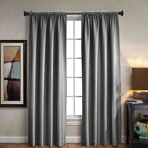 Sonoma rod pocket back tab window curtain panels bed bath beyond for Bed bath and beyond curtains for living room