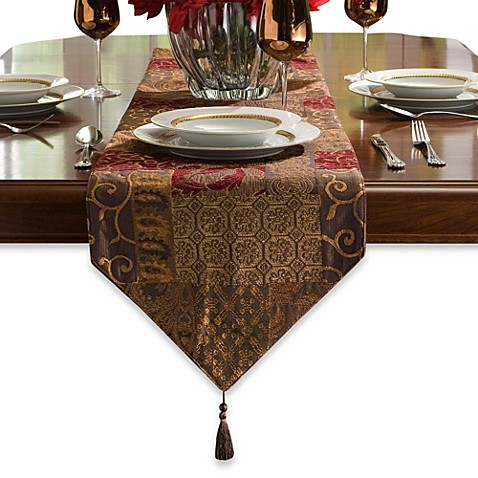 Croscill galleria 108 inch table runner bed bath beyond for 108 table runner