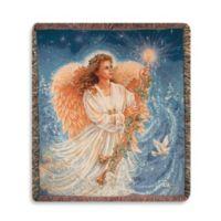 Holiday Stardust Angel Throw Blanket