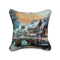 Thomas Kinkade Cobblestone Christmas Pillow