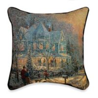 Thomas Kinkade Holiday Gathering Pillow