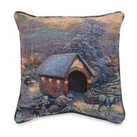 Thomas Kinkade Winter Evening Memories Pillow