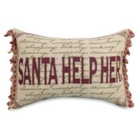Santa Help Her 13-Inch x 18-Inch Oblong Holiday Tapestry Accent Pillow