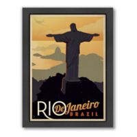 Americanflat Rio Vintage Travel Framed Wall Art
