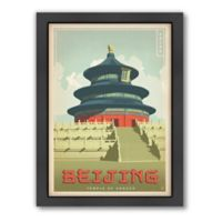 Americanflat Beijing Vintage Travel Framed Wall Art