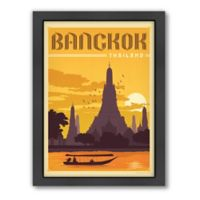 Americanflat Bangkok Vintage Travel Framed Wall Art