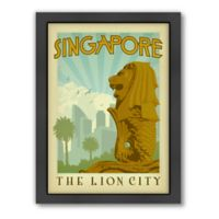 Americanflat Singapore Vintage Travel Framed Wall Art