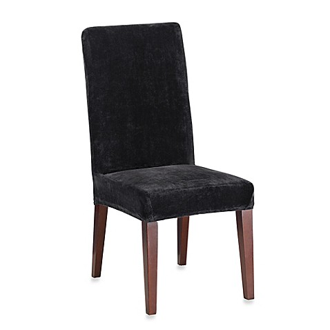 Sure FitR Stretch Plush Short Dining Room Chair Cover