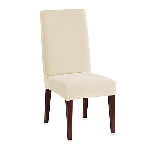 Sure fit stretch plush short dining room chair cover bed bath beyond - Plush dining room chairs ...