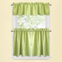 Victoria 24-Inch Window Curtain Tier Pair in Green